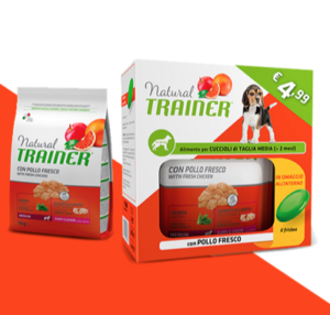 Trainer pet food cane medium