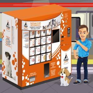 Distributore automatico pet food