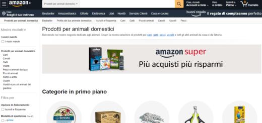 Amazon vendite pet care settembre