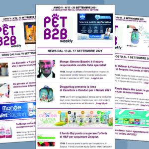 Pet B2B Weekly 20 settembre 2021